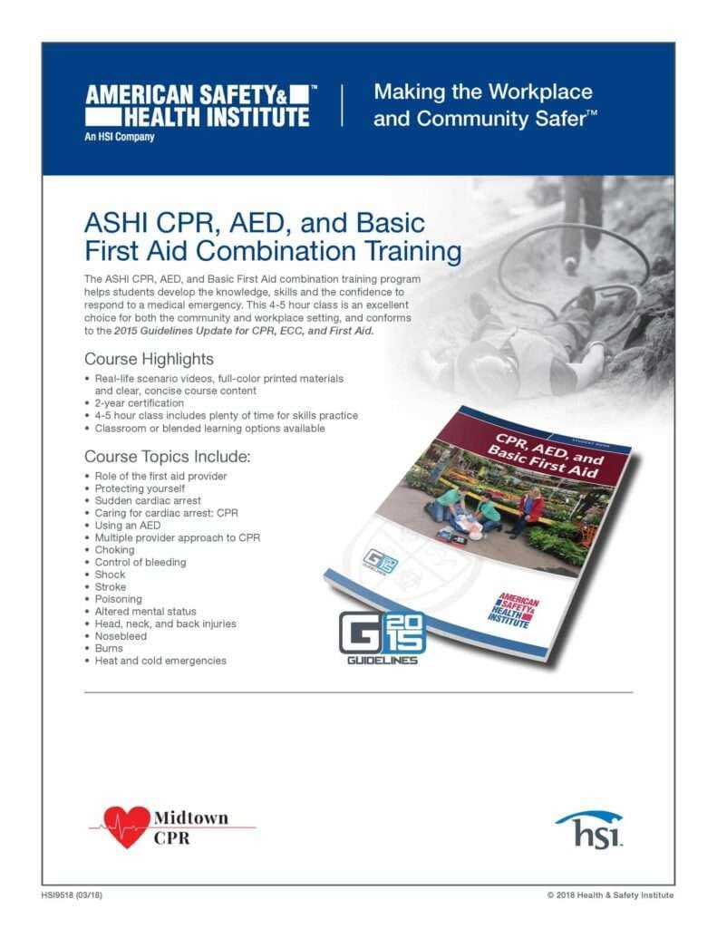 ASHI CPR AED First Aid Certification